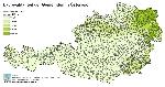 Laubwaldanteil der Gemeinden in Österreich in Prozent