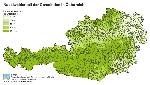 Nadelwaldanteil der Gemeinden in Österreich in Prozent