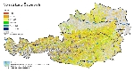 Holzvorrat in Österreich in vfm/ha